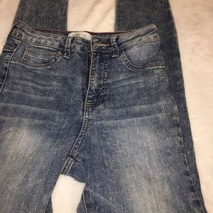 Cello Skinny Faded Wash High Rise Jeans Size 5